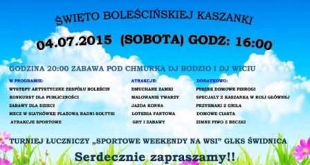 Łuki i święto kaszanki w Boleścinie – ważne!
