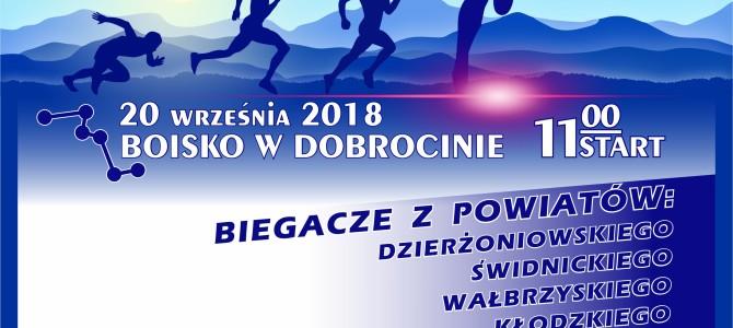 Strefa jesiennych biegów przełajowych w Dobrocinie