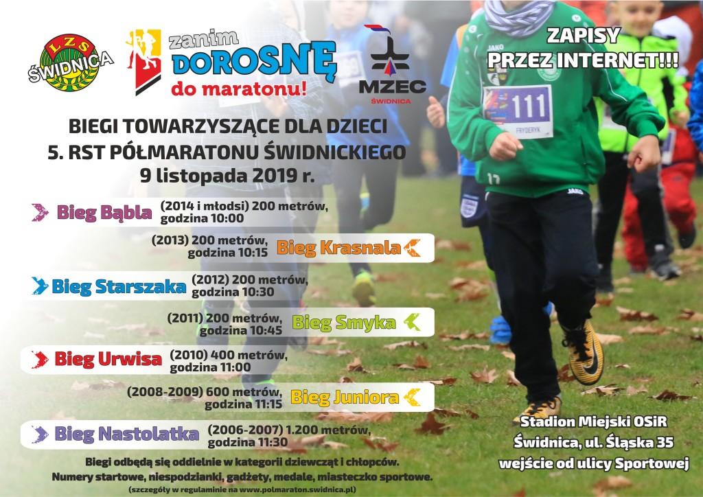 plakat biegi dla dzieci 2019